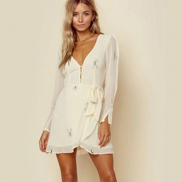 fc49a8c057579 For Love And Lemons Dresses | For Love Lemons Scorpion Wrap Dress ...